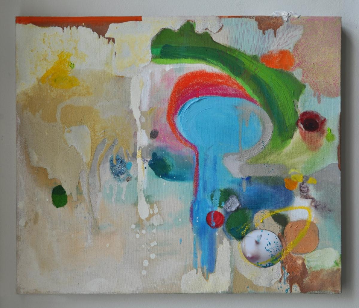 Meerbusen, Mischtechnik und Collage auf Leinwand, 52 x 62 cm, 2012