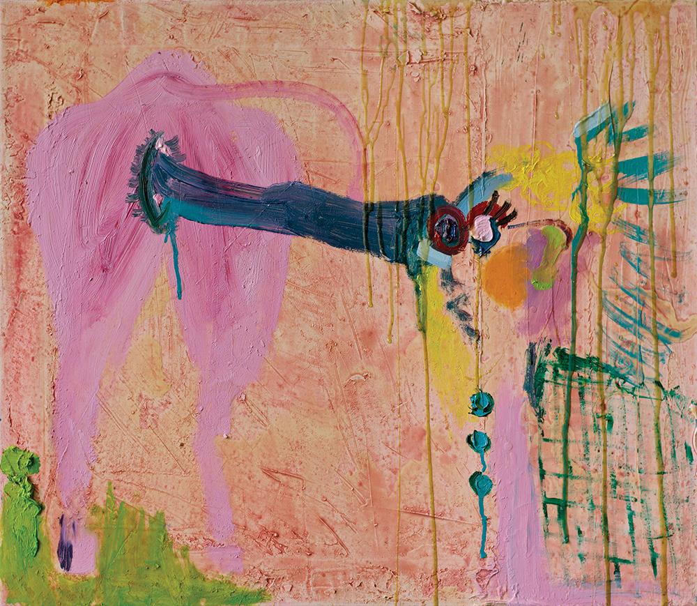 Julia Hinterberger, Indianerin, Öl auf Leinwand, 50 x 60 cm, 2013