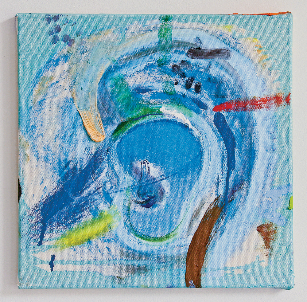 Julia Hinterberger, Ohr, Öl und Pigment auf Leinwand, 40 x 40 cm, 2014