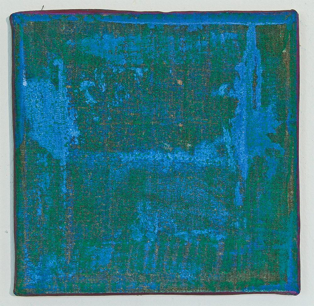 Julia Hinterberger, Weltraum, Öl und Ölkreide auf Leinwand, 25 x 25 cm, 2014