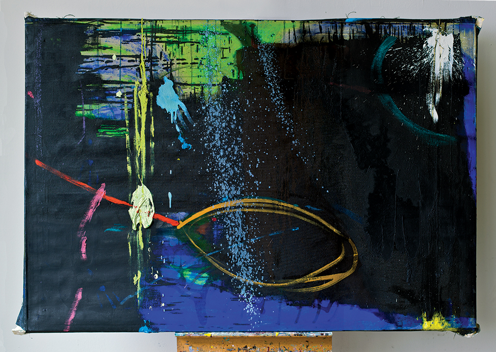 Julia Hinterberger, Wendebild, Mischtechnik auf Leinwand, ca. 160 x 110 cm, 2014