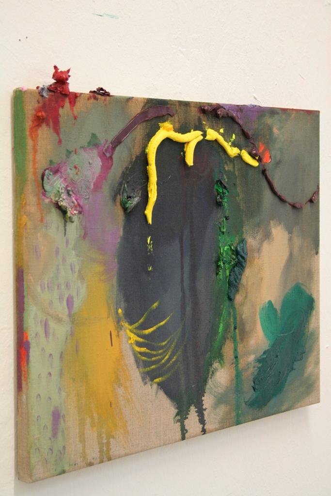 Julia Hinterberger Die Kåtznmuatta Öl auf Leinwand 40x30 cm 2009