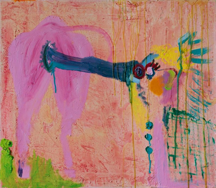 Julia Hinterberger Indianerin Mischtechnik auf Leinwand 50 x 60 cm