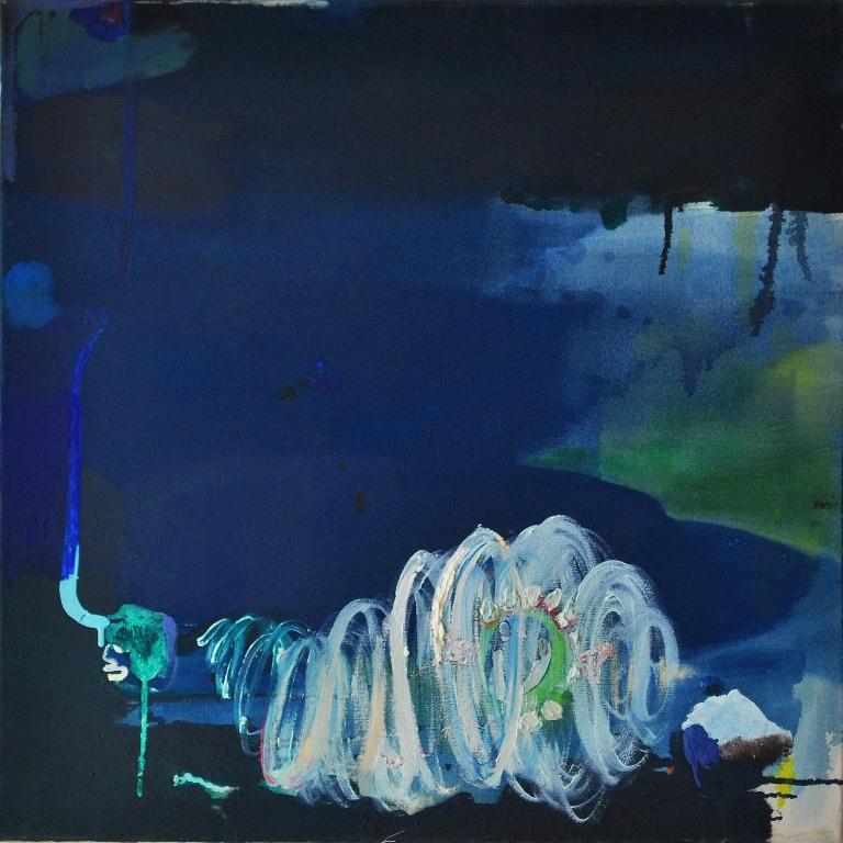 Julia Hinterberger Marianengraben Öl auf Leinwand 70 x 70 cm 2013
