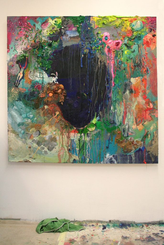 Julia Hinterberger Wegga Öl auf Leinwand 150x150 cm 2009