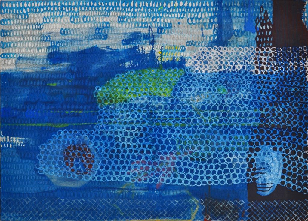 Julia Hinterberger Wild Blue Yonder Mischtechnik auf Leinwand 100 x 140 cm 2013