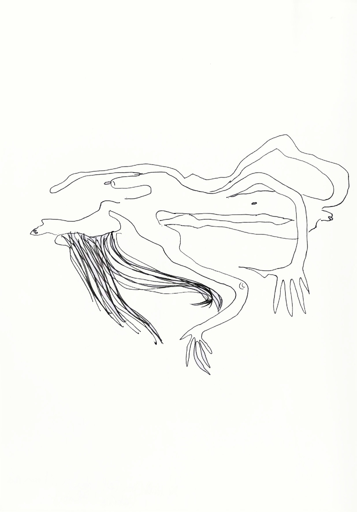 Julia Hinterberger Zerfließende Permanent Marker auf Papier A4 2011