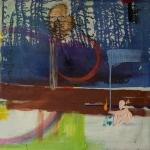Julia Hinterberger, Romantische Anarchie, Mischtechnik auf Molino, 70 x 70 cm, 2014