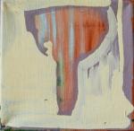 Julia Hinterberger, Eisstock, Öl auf Leinwand, 20 x 20 cm, 2014