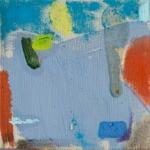 Julia Hinterberger, Werfer, Öl und Pigment auf Leinwand, 20 x 20 cm, 2014