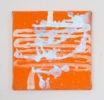 Vaters Heizung, Öl und Ölpastell auf Leinwand, 20 x 20 cm, 2014