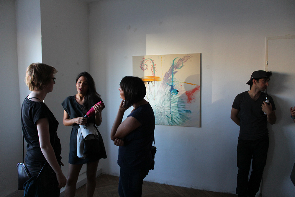 Ausstellungseröffnung Lemon Garden, Julia Hinterberger und Elitsa Velikova, 2015, IMG_5938