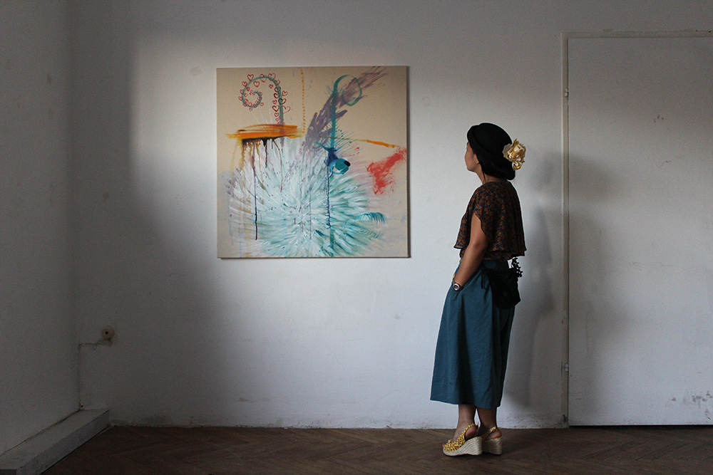 Ausstellungseröffnung Lemon Garden, Julia Hinterberger und Elitsa Velikova, 2015, IMG_5961